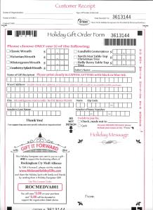 2016 Order Form
